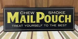 Mail Pouch Steel Metal Tobacco Smoke Shop Gas Vintage Style Wall Country Decor