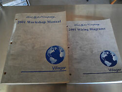 2001 VILLAGER CAR Service Shop Repair Workshop Manual  wiring Set OEM  Ford