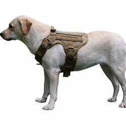 MXSLEUT Tactical Dog Harness With Handle Working Service Vest Front Clip Leash