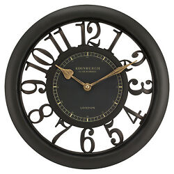 20858 Edinburgh Clock Works Co. 11.5quot; Floating Dial Wall Clock by Equity Brown