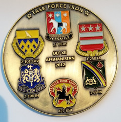Us Army Oef Operation Enduring Freedom Blood And Iron Task Force Iron Afghan