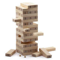54-piece Giant Tumbling Timbers. Stacking Game With Dices – 22.5 Tall