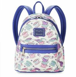 New Disney Parks Loungefly Alice In Wonderland Mad Tea Party Cups Backpack Bag