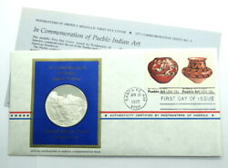 Franklin Mint Pueblo Indian Pottery Sterling Silver Proof Coin Medal Postmasters