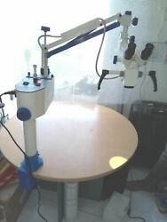 Surgical Ent Microscope For Hospitals - Floor Stand Model - White Colour
