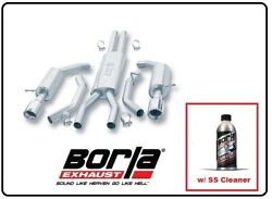 Borla Cat-back Exhaust Touring W/ss Cleaner For 2002 Ford Thunderbird 140008