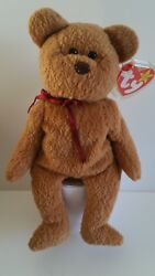 Ty Beanie Baby - Curly The Bear - Made In Indonesia - Mint - Bb B21c