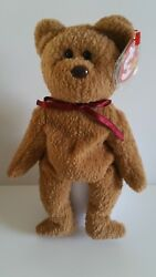 Ty Beanie Babies - Curly The Bear - Made In China - Mint - Bb B19c
