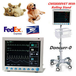 Veterinary Portable Cms8000vet Patient Monitor,icu Vital Sign 6 Parameter+stand