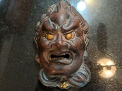 Antique Ceramic Asian Wall Mask