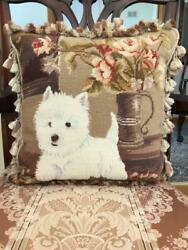 West Highland White Terrier Needlepoint Pillow