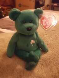 Erin The Irish Bear Original TY Beanie Baby Excellent Condition *MINT TAGS*