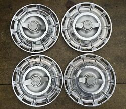 1959-62 Corvette Straight Axle Spinner Hubcaps Nice Originals No Curb Damage
