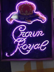 New Style Crown Royal Whiskey Beer Lamp Light Neon Sign 24x20