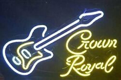 New Country Music Crown Royal Guitar Beer Bar Pub Light Lamp Neon Sign 32x24