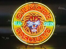 New Gilmore Gasoline Blu Green Gas Light Neon Sign 24 With Hd Vivid Printing