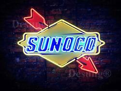 New Sunoco Gas Gasoline Station Light Neon Sign 24 With Hd Vivid Printing