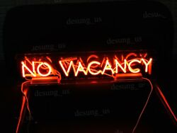 Rare New No Vacancy With Switch On/off For Word No Acrylic Neon Light Sign 48
