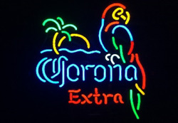 New Corona Extra Parrot Palm Tree Beer Neon Sign 32x24