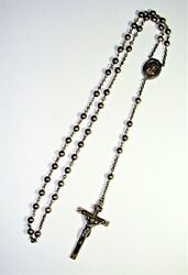 Vintage Sterling Silver 1940and039s Estate Rosary Swift And Fisher Sf Catholic
