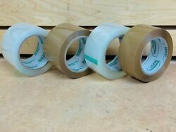 Pick Color Thickness Quantity 1-144 Rolls Packing Tape Clear Tan 2 3 110 Yards