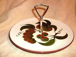 Stangl Pottery Orchard Song Tidbit Serving Plate W/handle 10 1/2 U.s.a.
