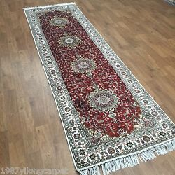 Yilong 3x10and039 Vintage Red Classic Hallway Rugs Handmade Lobby Rug Runner Y70c