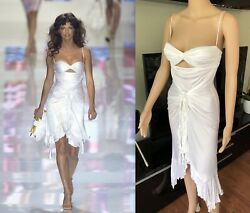 New Gianni Versace Vintage Ss04 Runway Sexy Cutout Dress Iconic