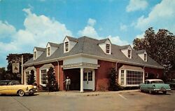 Lafayette Charcoal Steak And Seafood House Williamsburgva Vtg 1950and039s Postcard