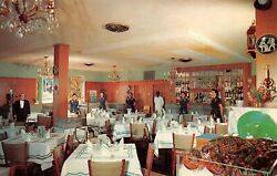 Lafayette Charcoal Steak Seafood House Dining Room Williamsburgva Vtg Postcard