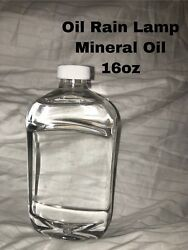 Rain Lamp Oil 16 Oz Bottle Of Mineral Oil Light Weight, Pumps Smooth, Beads Well