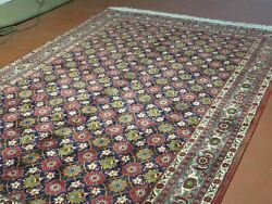 7and039 X 11and039 Hand Made Knotted Pakistan Allover Oriental Hand Knotted Wool Rug Nice