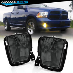 Fits13-21 Ram 1500 Oe Style Smoke Lens Front Fog Lights And 9006 Bulbs Left Right
