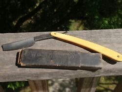 Wm. Elliot And Co. Antique Shaving Straight Razor Blade And Case Germany