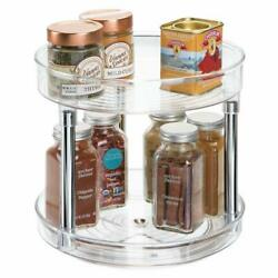 2tier Lazy Susan Turntable Food Storage Container For Cabinetspantryfridge