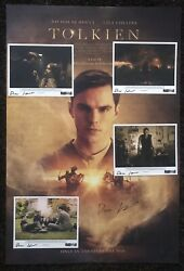 Signed Tolkien Poster Stills Dome Karukoski Lord Of The Rings Wondercon Lotr