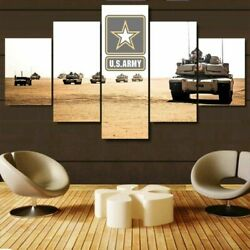 Us Army Tanks Military Five Piece Framed Canvas Home Decor Wall Art 5