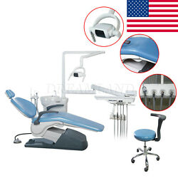 Usa Dental Unit Chair Hard Leather Computer Controlled Dc Motor With Stool Fda