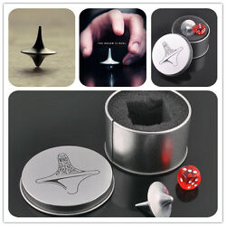 Quality Inception Totem Accurate Spinning Top Zinc Alloy Silver Vintage Toy LB