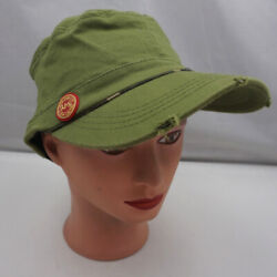 Jameson Hat Green Stitched Womenand039s Fitted Cadet Military Cap Pre-owned St231