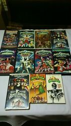 Lot Of 11 Vhs Tapes Mighty Morphin Power Rangers Movies Clamshell Mostly