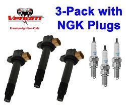 Set Of 3 Seadoo Ignition Coil Stick W/ Plugs Fits Spark Models And Gti Gts 900 Ace