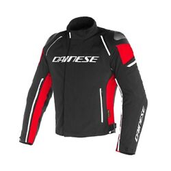 Motorcycle Jacket Sport Touring Naked 4 Seasons Dainese Racing 3 Dry Black Red