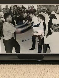 Muhammad Ali With The Beatles—autographed By Ali And Professionally Framed