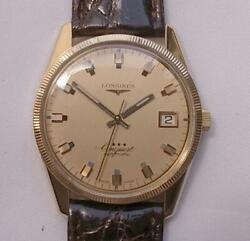 Longines Conquest 3 Star 18k Gold 17 Jewels Automatic Vintage Watch Overhauled