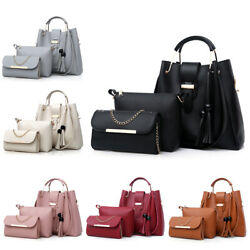 3PCS Women Lady Leather Handbag Shoulder Bag Satchel Messenger Purse Tote Set $19.99