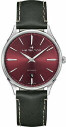 New Hamilton Jazzmaster Thinline Wine Red Dial Automatic Winding Men's Watch
