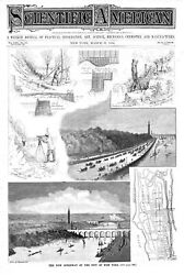 The New Speedway Of The City Of New York - 7 Vignettes - 1894 Engraving
