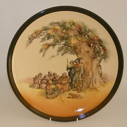 Royal Doulton Seriesware Charger Under The Greenwood Tree Green Border D6094