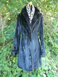 END OF SEASON  SALE! Glossy, Ranch Mink,  Fitted,  3/4 Length , Size Small  Fur